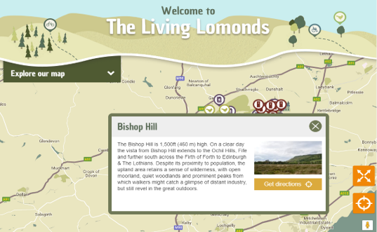 The Living Lomonds, fully responsive website Umbraco v7 with Google Maps integration. Full front end, on map search, filters, custom icons and popups.