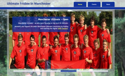 Ultimate In Manchester - a fluid responsive site with a custom JQuery team picker
